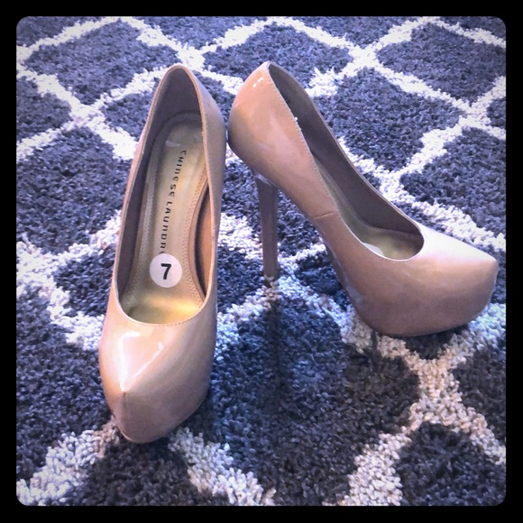 5963922d6a Chinese Laundry Shoes | Nude Patent Leather Stilettos By | Poshmark